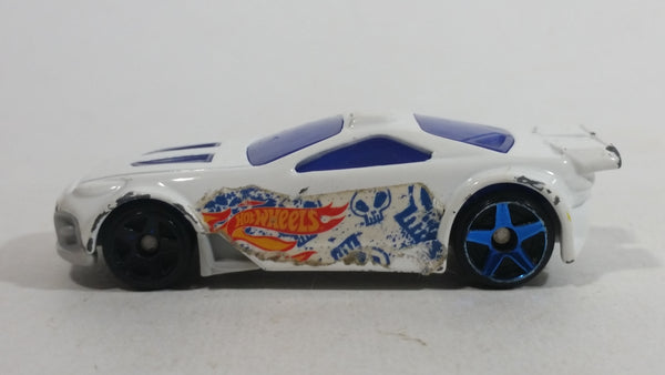 2012 Hot Wheels Scorcher White 2/8 Die Cast Toy Car Vehicle McDonald's Happy Meal