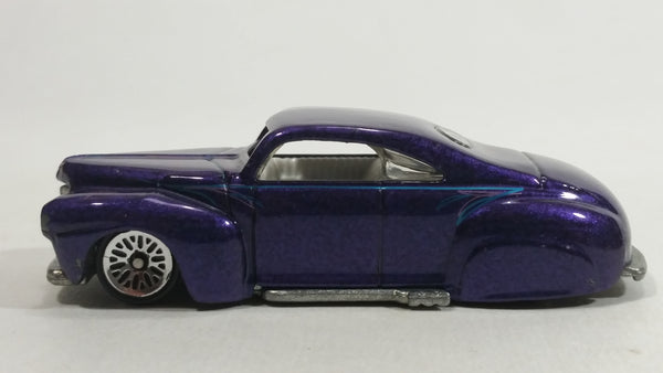 1998 Hot Wheels First Editions Tail Dragger Metalflake Purple Die Cast Toy Car Vehicle