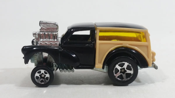 2001 Hot Wheels First Editions MG Rover Morris Wagon Black Tan Die Cast Toy Car Vehicle