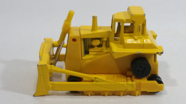 1980 Hot Wheels Workhorses CAT Bulldozer Yellow Die Cast Toy Construction Vehicle