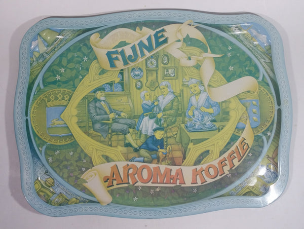 Vintage Douwe Egbert's Dutch Fijne Aroma Koffie Light Blue Metal Coffee Beverage Tray