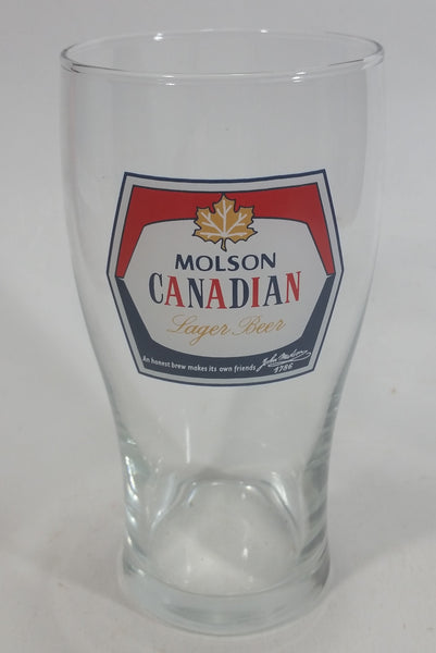 "Vintage Molson Canadian Lager Beer Biere 6"" Tall Glass Cup"