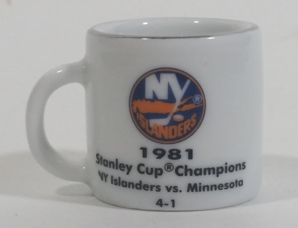 NHL Stanley Cup Crazy Mini Mug NY Islanders 1981 Champs W/ Opponent & Score