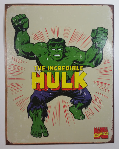 "2007 Marvel Comics The Incredible Hulk Character 12"" x 16"" Tin Metal Sign"