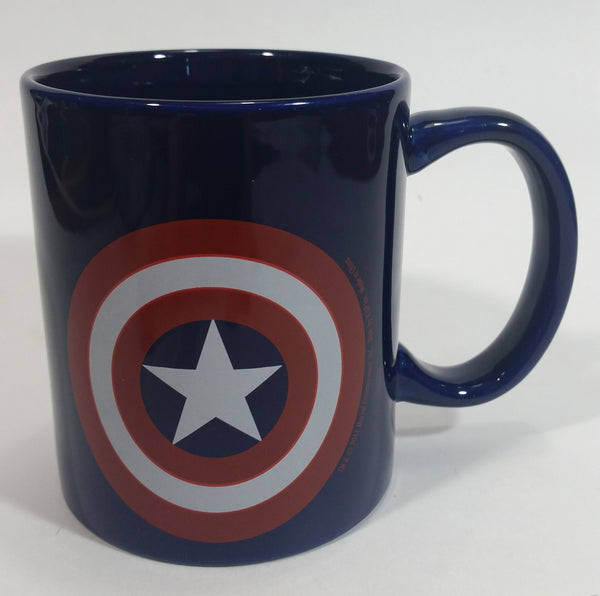 2011 Marvel Entertainment Captain America Character Dark Blue Ceramic Coffee Mug Comic Collectible