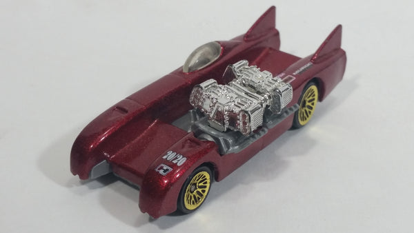 1998 Hot Wheels First Editions Double Vision Metalflake Red 20/20 Die Cast Toy Car Vehicle