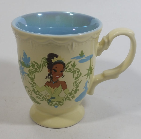 Disney Princess Tiana Ceramic Elegantly Designed Light Yellow and Blue Tea Cup Coffee Mug Collectible