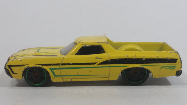 2014 HW Off-Road Hot Trucks Hot Wheels '72 Ford Ranchero Yellow Die Cast Toy Car Vehicle