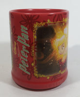 Disney Genuine Authentic Original Classic Animation Tinker Bell Peter Pan Red Ceramic Coffee Mug Collectible