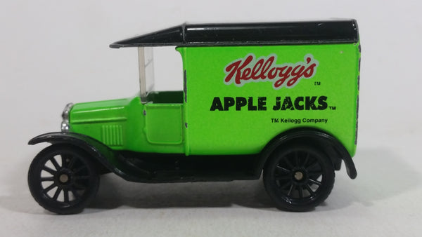 1996 Matchbox 1921 Model T Ford Kellogg's Frosted Apple Jacks Cereal Bright Green Die Cast Toy Classic Antique Car Delivery Vehicle