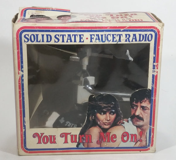 "Rare HTF Vintage 1978 Solid State Faucet Radio ""You Turn Me On!"" Sink Tap Shaped with Box"
