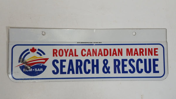 Royal Canadian Marine Search & Rescue License Plate Add-On Metal Tag