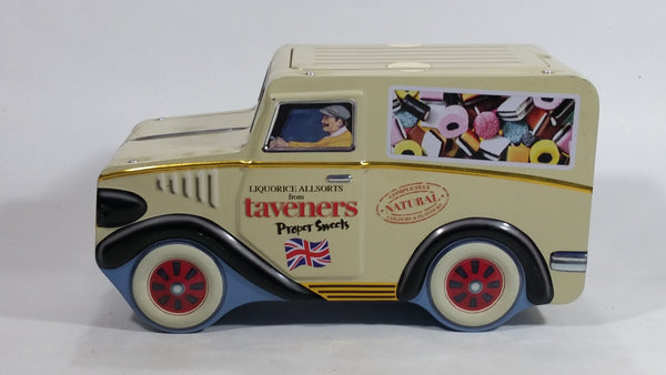 Taveners Proper Sweets Liquorice All Sorts Delivery Truck Shaped Tin Metal Candy Container