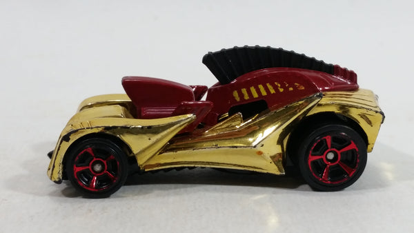 2012 Hot Wheels Troy Solider Gold Chrome Die Cast Toy Car Vehicle