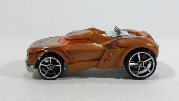 2012 Hot Wheels Growler Brown Die Cast Toy Car Vehicle