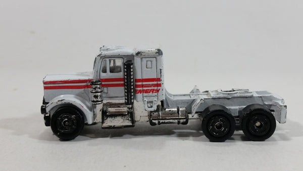 Summer Energy Semi Tractor Truck Rig White Red Die Cast Toy Car Vehicle - Hong Kong