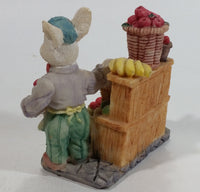Cute Bunny Rabbit Fruit and Vegetable Fresh Produce Market Marketplace Stand Resin Decorative Ornament