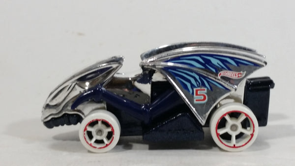 2012 Hot Wheels Thrill Racers Ice Vampyra Chrome #5 Die Cast Toy Car Vehicle