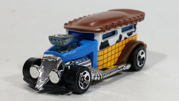 2010 Hot Wheels Disney Pixar Toy Story 3 Woody Wagon Blue Yellow White Die Cast Toy Character Car Vehicle