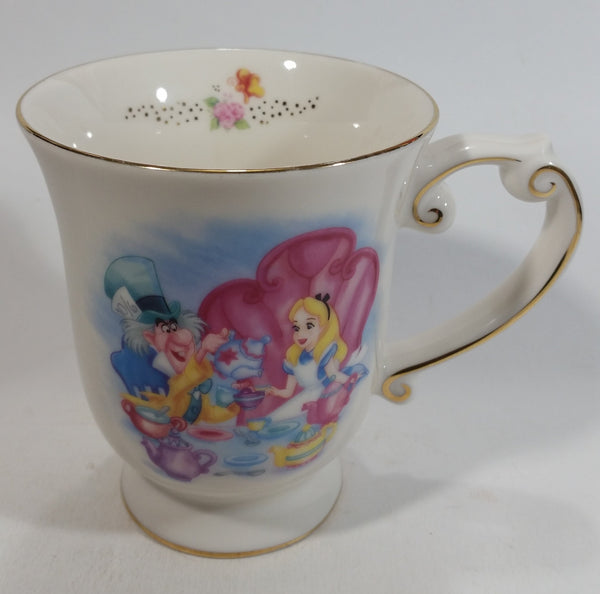 Disney Parks Alice In Wonderland Ceramic Elegantly Designed White Tea Cup Coffee Mug Collectible