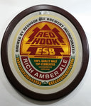 "Vintage Red Hook ESB Rich Amber Ale Large Oval Shaped Wood Framed Pub Lounge Bar Advertising Beer Mirror 24"" x 27"""