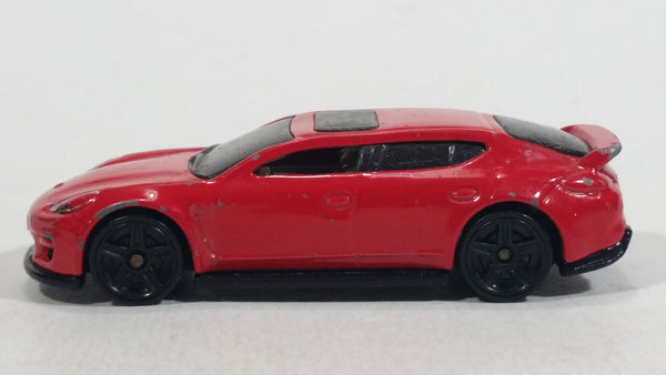 2014 Hot Wheels HW City Speed Team Porsche Panamera Red Die Cast Toy Car Vehicle