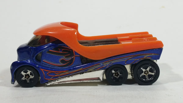 2006 Hot Wheels Cabbin' Fever Metalflake Blue Truck Die Cast Toy Car Vehicle