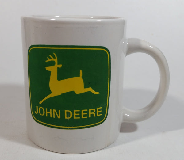 Gibson John Deere Tractor White Ceramic Coffee Mug Farming Collectible
