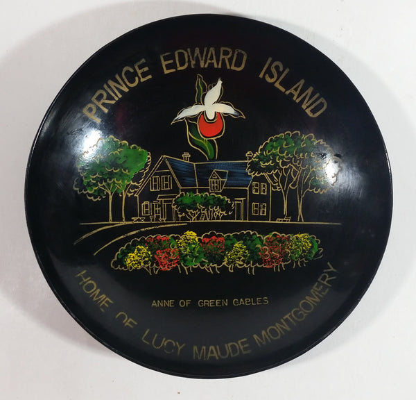 "Rare Vintage Prince Edward Island Home Anne of Lucy Maude Montgomery Anne of Green Gables 8"" Round Plastic Like Dish Souvenir"