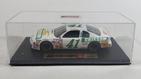 Real Image Nascar #41 Chevy Monte Carlo Mark Grissom 1/43 Scale White Die Cast Toy Car Vehicle in Display Case