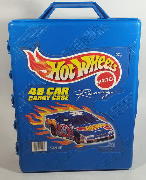 1998 Hot Wheels 48 Car Carrying Case Blue Plastic Container