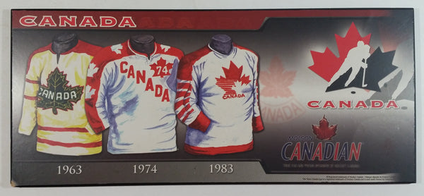 Molson Canadian Hockey Canada Team Jersey History Wall Plaque Board