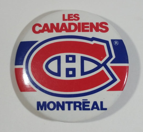 "Les Canadiens Montreal NHL Ice Hockey Team Round 2 1/8"" Diamter Button Pin Sports Collectible"