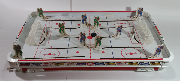 Vintage 1970 Munro Games NHL Ice Hockey Table Top Hockey Game Vancouver Vs Buffalo with Players from Minnesota and Toronto