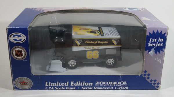 Fleer Limited Edition NHL Ice Hockey Mario Lemieux Zamboni 1/24 Scale Coin Bank Die Cast Ice Resurfacer #1334 of 1500