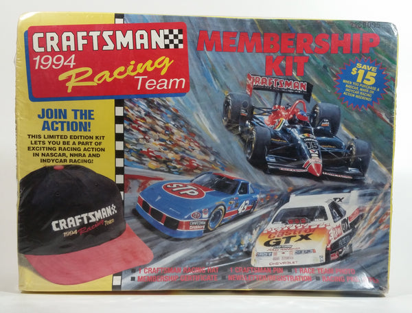 1994 Craftsman Racing Team Membership Kit Still Sealed in Box - Hat, Pin, Photo, Certificate, and Newsletter