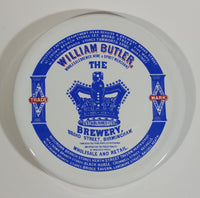 "Rare Taunton Country Crafts William Butler Brewery Broad Street Birmingham Large 6"" Diameter Ceramic Beer Mug Coaster Advertising Breweriana Collectible"