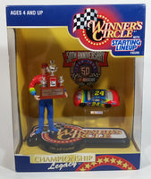 "1998 NASCAR 50th Anniversary Winner's Circle 1995 Champion Jeff Gordon 5 1/2"" Figure with 1/64 Scale Chevrolet Monte Carlo #24 Dupont Die Cast Toy Car Vehicle In Original Packaging"