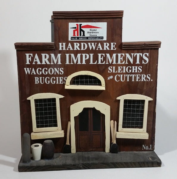 "Home Hardware Stores Value Service Dependability ""Hardware Farm Implements"" Birdhouse Style Wooden Building Model Advertising Collectible"