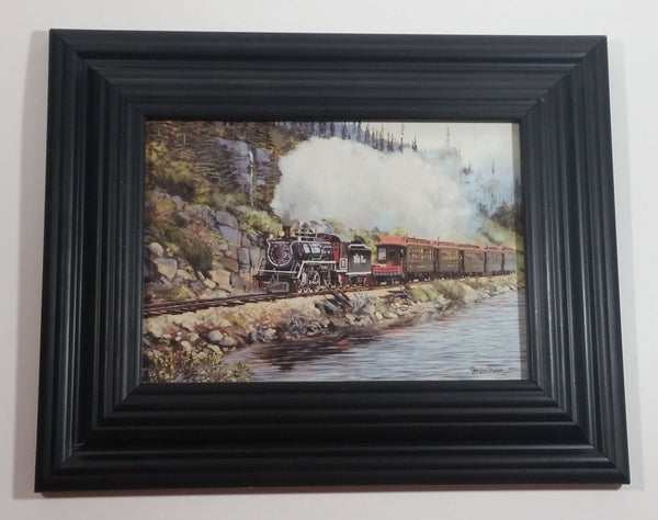 "Peter Van Dusen ""Return from Bennett Lake"" Small 8 1/4"" x 10 1/4"" Framed Print Railroads Trains"