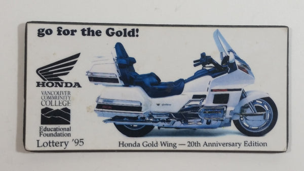 1995 Vancouver Career College Lottery '95 Honda Gold Wing 20th Anniversary Edition Fridge Magnet