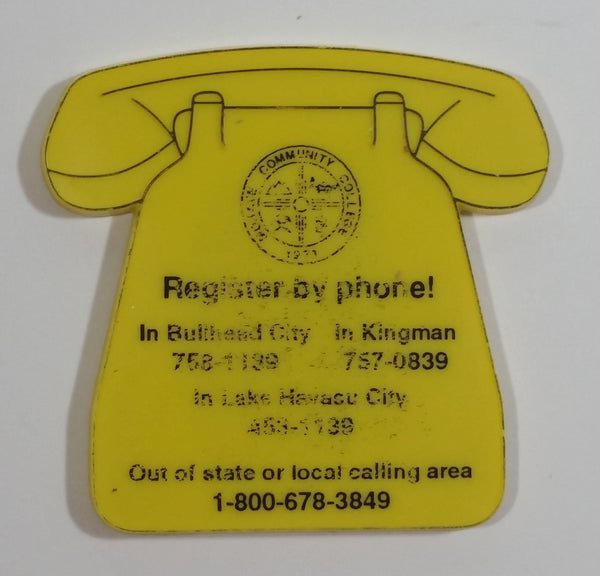 Mohave Community College Arizona Yellow Phone Shaped Magnet