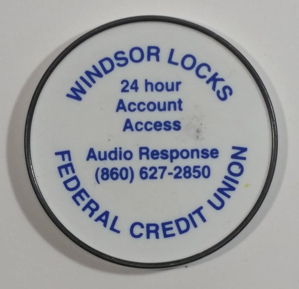 Windsor Locks Federal Credit Union White Round Circular Fridge Magnet