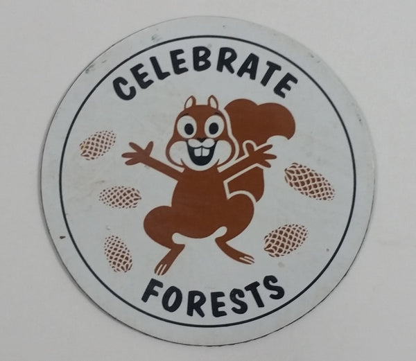 Celebrate Forests Brown Squirrel Round Circular Magnet