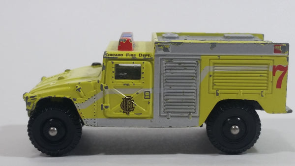 Corgi Chicago Police Department Fire Pumper Hummer Humvee HMMWV Fluorescent Yellow Die Cast Toy Emergency Fire Truck Vehicle
