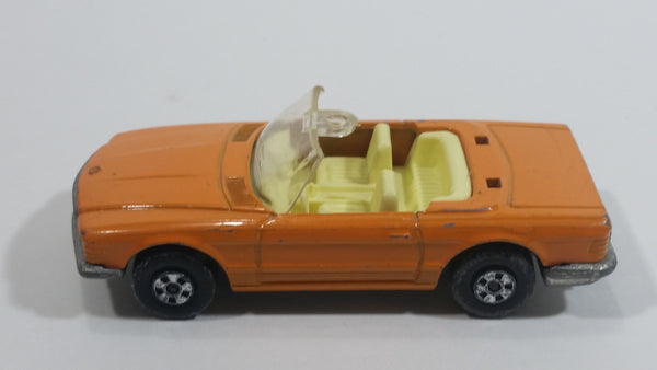 Vintage 1973 Lesney Matchbox Super Fast Mercedes 350 SL Convertible Orange Die Cast Toy Car Vehicle