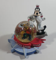 2004 Disney Cruise Line Mickey Mouse and Goofy Snow Globe Travel Collectible