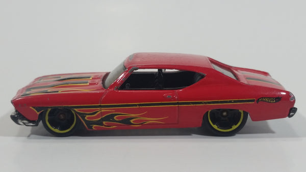 2013 Hot Wheels HW Showroom Heat Fleet '69 Chevelle SS 396 Red Die Cast Toy Muscle Car Vehicle