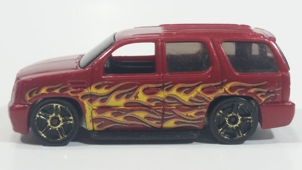 2010 Hot Wheels Haulers '07 Cadillac Escalade Dark Red Die Cast Toy Car SUV Vehicle