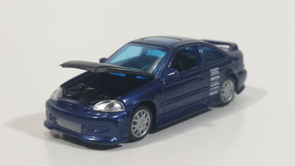 X-Concepts Modifiers Honda Civic Si Metalflake Dark Blue Die Cast Toy Car Vehicle No Accessories